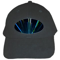 Seamless Colorful Blue Light Fireworks Sky Black Ultra Black Cap