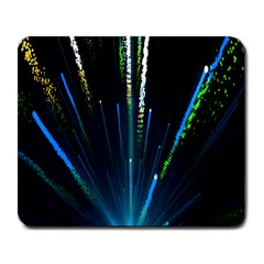 Seamless Colorful Blue Light Fireworks Sky Black Ultra Large Mousepads