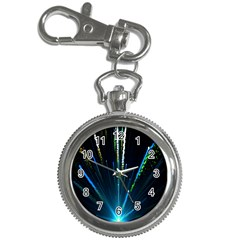 Seamless Colorful Blue Light Fireworks Sky Black Ultra Key Chain Watches
