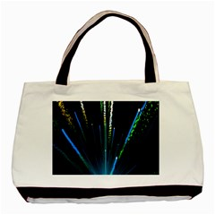 Seamless Colorful Blue Light Fireworks Sky Black Ultra Basic Tote Bag