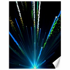 Seamless Colorful Blue Light Fireworks Sky Black Ultra Canvas 12  X 16
