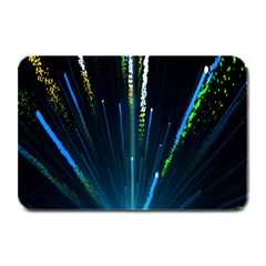 Seamless Colorful Blue Light Fireworks Sky Black Ultra Plate Mats