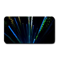 Seamless Colorful Blue Light Fireworks Sky Black Ultra Medium Bar Mats