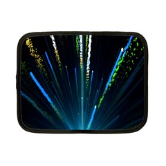 Seamless Colorful Blue Light Fireworks Sky Black Ultra Netbook Case (small)