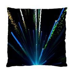 Seamless Colorful Blue Light Fireworks Sky Black Ultra Standard Cushion Case (one Side)