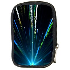 Seamless Colorful Blue Light Fireworks Sky Black Ultra Compact Camera Cases