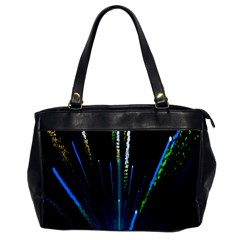 Seamless Colorful Blue Light Fireworks Sky Black Ultra Office Handbags