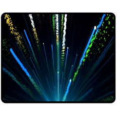 Seamless Colorful Blue Light Fireworks Sky Black Ultra Fleece Blanket (medium)