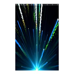 Seamless Colorful Blue Light Fireworks Sky Black Ultra Shower Curtain 48  X 72  (small)