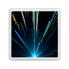 Seamless Colorful Blue Light Fireworks Sky Black Ultra Memory Card Reader (square)