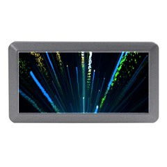 Seamless Colorful Blue Light Fireworks Sky Black Ultra Memory Card Reader (mini)