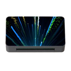 Seamless Colorful Blue Light Fireworks Sky Black Ultra Memory Card Reader With Cf