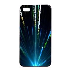 Seamless Colorful Blue Light Fireworks Sky Black Ultra Apple Iphone 4/4s Seamless Case (black)