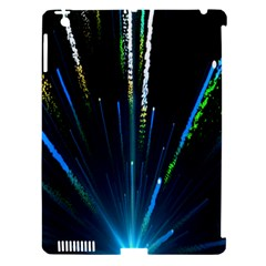 Seamless Colorful Blue Light Fireworks Sky Black Ultra Apple Ipad 3/4 Hardshell Case (compatible With Smart Cover)