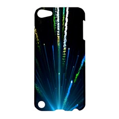 Seamless Colorful Blue Light Fireworks Sky Black Ultra Apple Ipod Touch 5 Hardshell Case