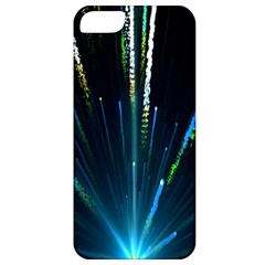 Seamless Colorful Blue Light Fireworks Sky Black Ultra Apple Iphone 5 Classic Hardshell Case