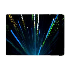 Seamless Colorful Blue Light Fireworks Sky Black Ultra Apple Ipad Mini Flip Case