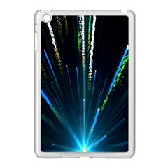 Seamless Colorful Blue Light Fireworks Sky Black Ultra Apple Ipad Mini Case (white)