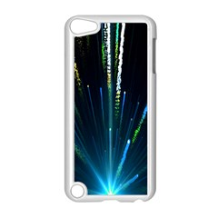 Seamless Colorful Blue Light Fireworks Sky Black Ultra Apple Ipod Touch 5 Case (white)