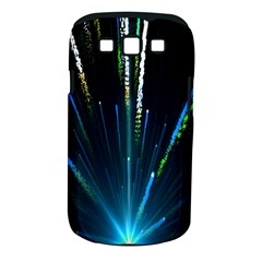 Seamless Colorful Blue Light Fireworks Sky Black Ultra Samsung Galaxy S Iii Classic Hardshell Case (pc+silicone)