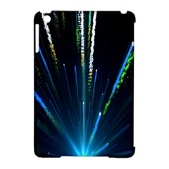 Seamless Colorful Blue Light Fireworks Sky Black Ultra Apple Ipad Mini Hardshell Case (compatible With Smart Cover)