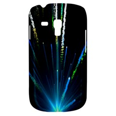 Seamless Colorful Blue Light Fireworks Sky Black Ultra Galaxy S3 Mini