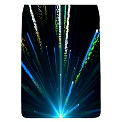 Seamless Colorful Blue Light Fireworks Sky Black Ultra Flap Covers (l)