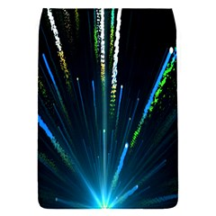 Seamless Colorful Blue Light Fireworks Sky Black Ultra Flap Covers (s)