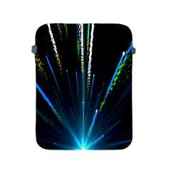 Seamless Colorful Blue Light Fireworks Sky Black Ultra Apple Ipad 2/3/4 Protective Soft Cases