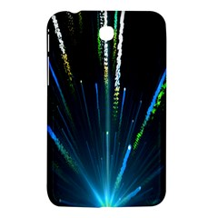 Seamless Colorful Blue Light Fireworks Sky Black Ultra Samsung Galaxy Tab 3 (7 ) P3200 Hardshell Case