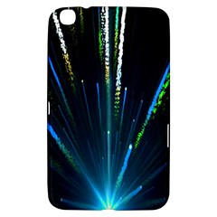 Seamless Colorful Blue Light Fireworks Sky Black Ultra Samsung Galaxy Tab 3 (8 ) T3100 Hardshell Case