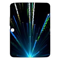 Seamless Colorful Blue Light Fireworks Sky Black Ultra Samsung Galaxy Tab 3 (10 1 ) P5200 Hardshell Case