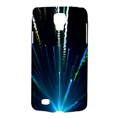 Seamless Colorful Blue Light Fireworks Sky Black Ultra Galaxy S4 Active