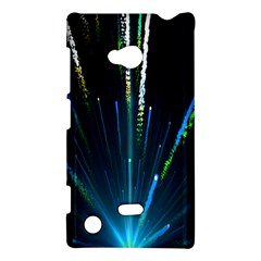 Seamless Colorful Blue Light Fireworks Sky Black Ultra Nokia Lumia 720
