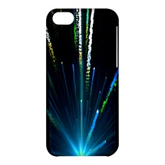 Seamless Colorful Blue Light Fireworks Sky Black Ultra Apple Iphone 5c Hardshell Case