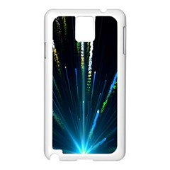 Seamless Colorful Blue Light Fireworks Sky Black Ultra Samsung Galaxy Note 3 N9005 Case (white)