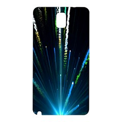 Seamless Colorful Blue Light Fireworks Sky Black Ultra Samsung Galaxy Note 3 N9005 Hardshell Back Case