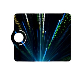 Seamless Colorful Blue Light Fireworks Sky Black Ultra Kindle Fire Hdx 8 9  Flip 360 Case