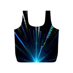 Seamless Colorful Blue Light Fireworks Sky Black Ultra Full Print Recycle Bags (s)