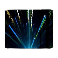 Seamless Colorful Blue Light Fireworks Sky Black Ultra Samsung Galaxy Tab Pro 8 4  Flip Case
