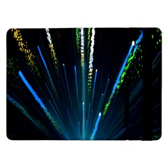 Seamless Colorful Blue Light Fireworks Sky Black Ultra Samsung Galaxy Tab Pro 12 2  Flip Case