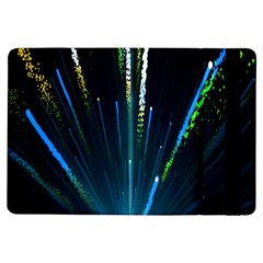 Seamless Colorful Blue Light Fireworks Sky Black Ultra Ipad Air Flip