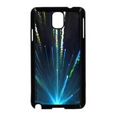 Seamless Colorful Blue Light Fireworks Sky Black Ultra Samsung Galaxy Note 3 Neo Hardshell Case (black)