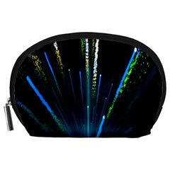 Seamless Colorful Blue Light Fireworks Sky Black Ultra Accessory Pouches (large)