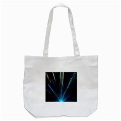 Seamless Colorful Blue Light Fireworks Sky Black Ultra Tote Bag (white)