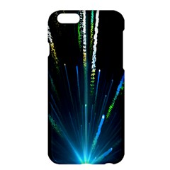 Seamless Colorful Blue Light Fireworks Sky Black Ultra Apple Iphone 6 Plus/6s Plus Hardshell Case