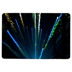 Seamless Colorful Blue Light Fireworks Sky Black Ultra Ipad Air 2 Flip
