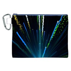 Seamless Colorful Blue Light Fireworks Sky Black Ultra Canvas Cosmetic Bag (xxl)