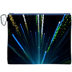 Seamless Colorful Blue Light Fireworks Sky Black Ultra Canvas Cosmetic Bag (xxxl)