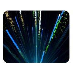 Seamless Colorful Blue Light Fireworks Sky Black Ultra Double Sided Flano Blanket (large)